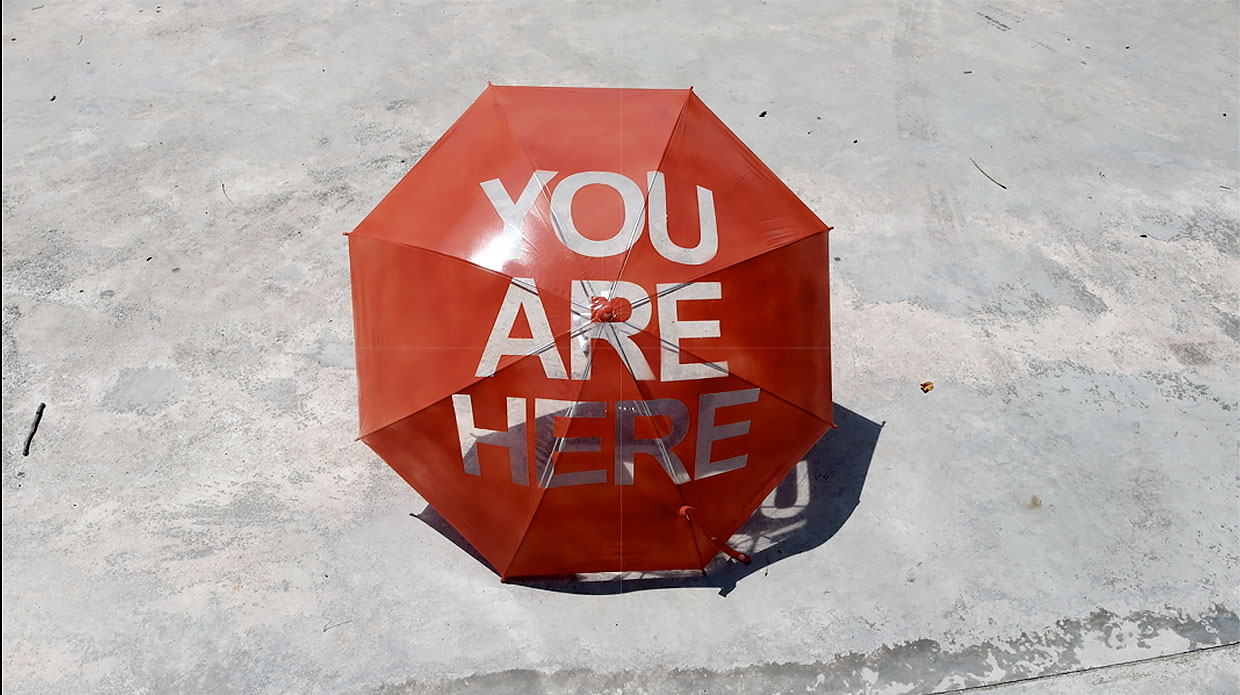 You Are Here Umbrella