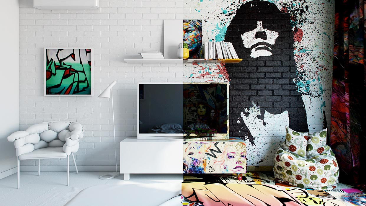 Graffiti Hotel Room