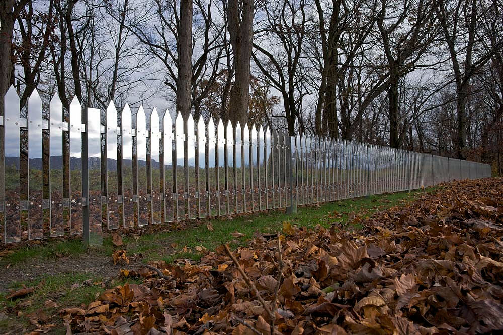 Alyson Shotz Mirror Fence