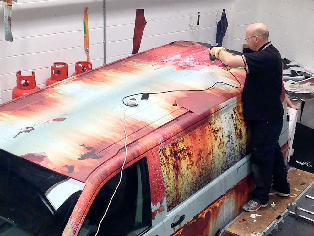 Realistic Car Rust Wrap