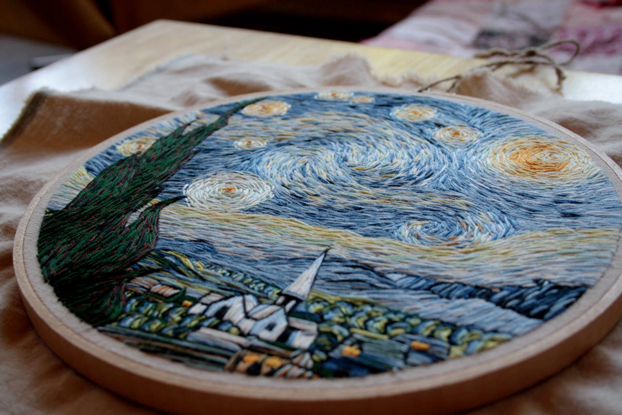 Lauren Spark Starry Night Embroidery