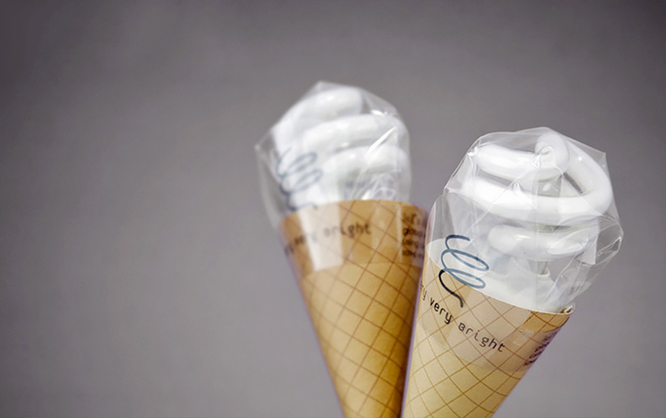 Light Bulb Ice Cream