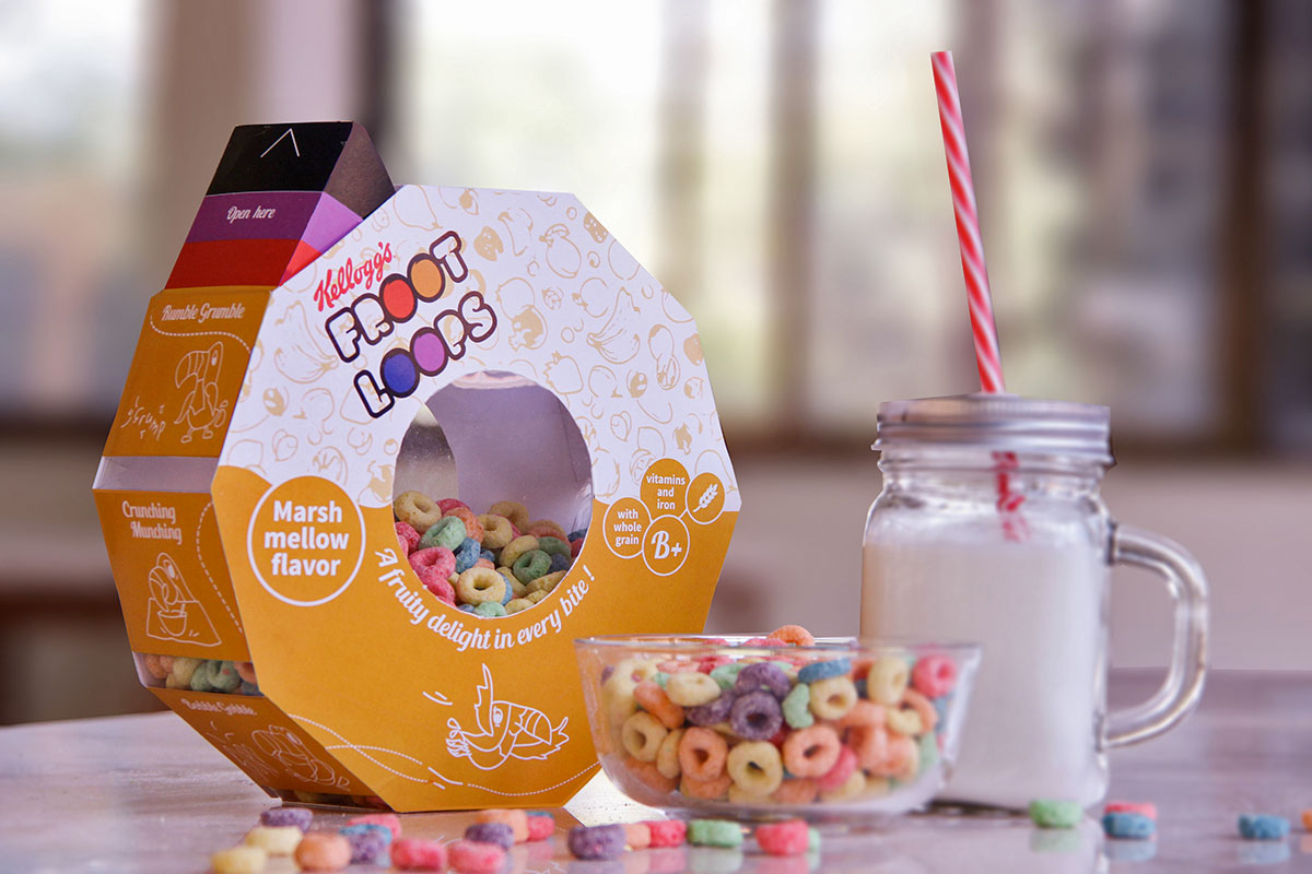Round Froot Loops Packaging