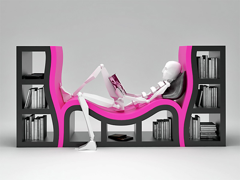 Reading Bench Bookcase